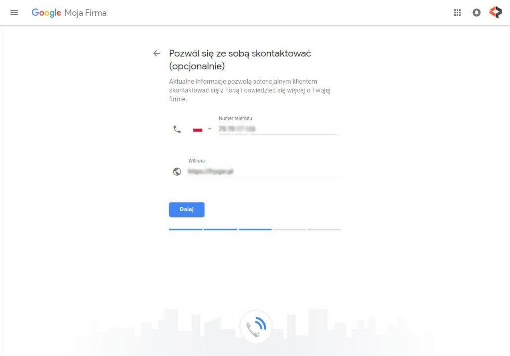 zakładanie wizytówki w Google Moja Firma - krok 5