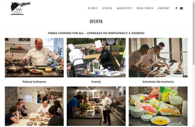 oferta kulinarna na stronie www