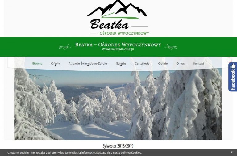 strona www pensjonatu beatka