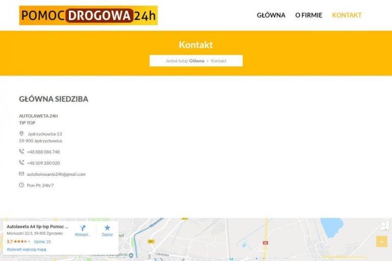 Kontakt i mapka Google