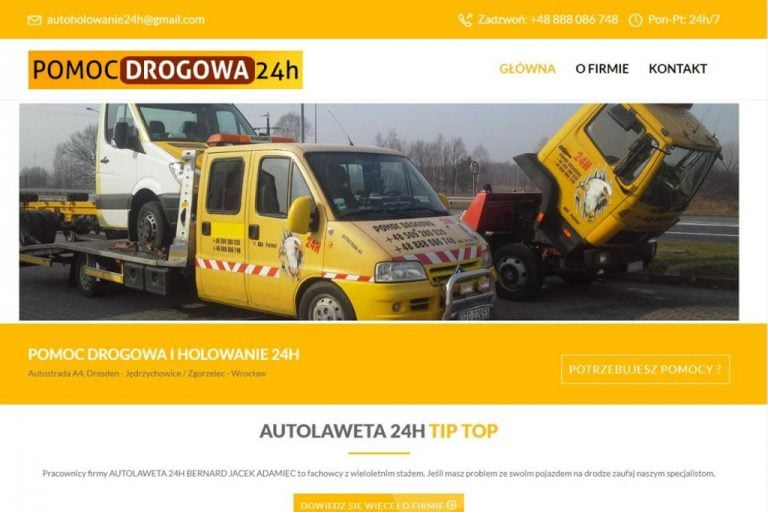 strona firmy pomocy drogowej