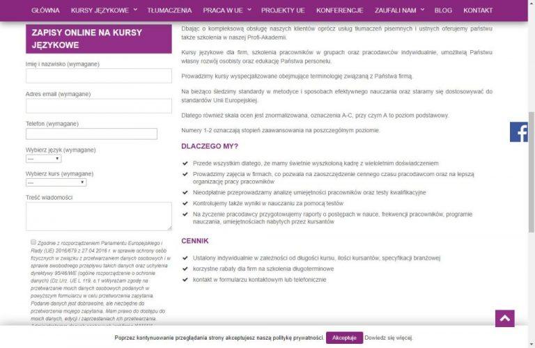formularz online