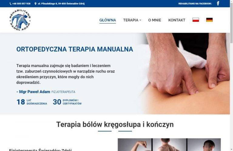 witryna fizjoterapeuty