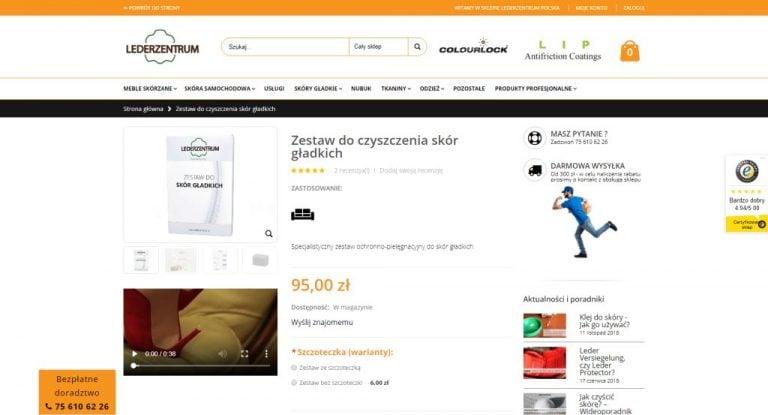 produkt w sklepie internetowym