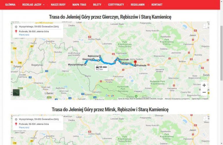 Wizualizacje tras busów