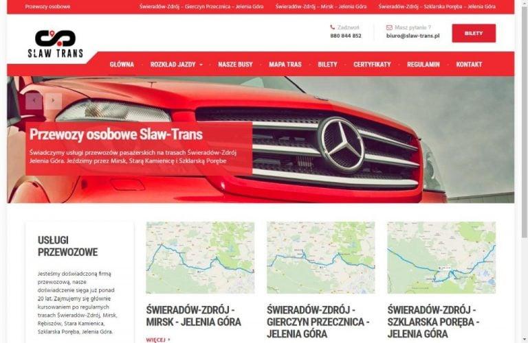 witryna firmy transportowej