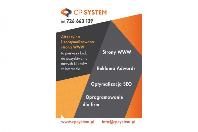 Realizacja ulotki reklamowej CP System
