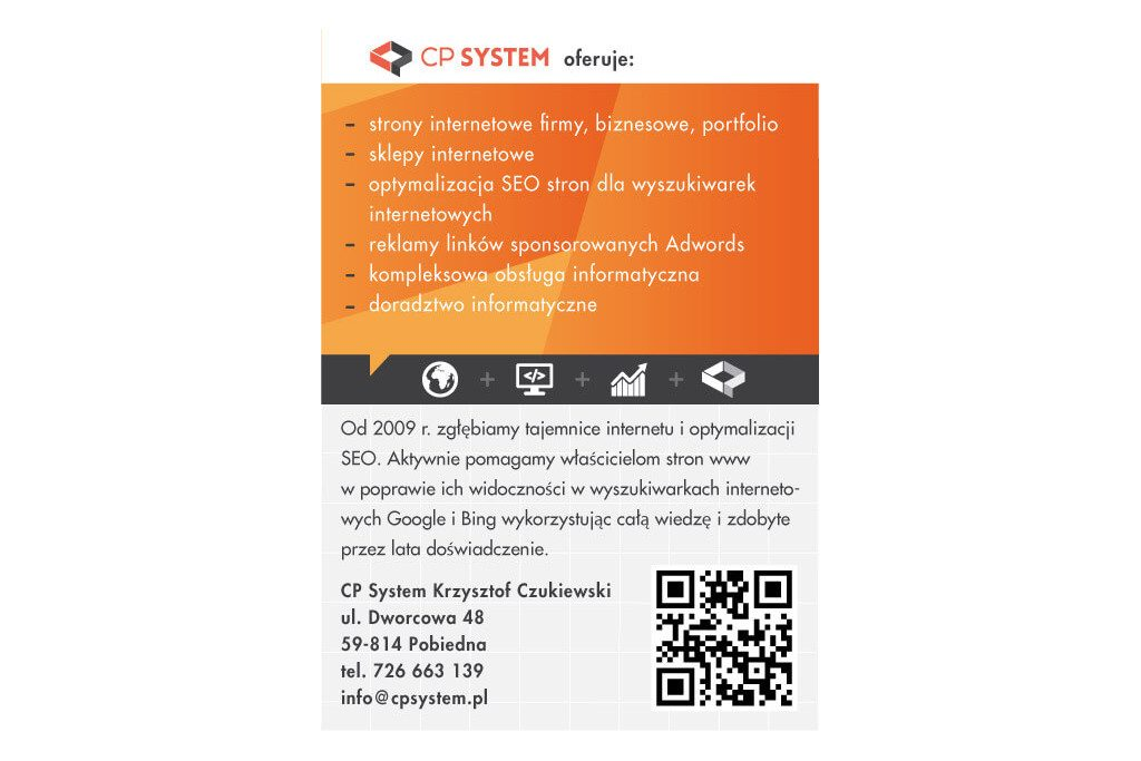 cp system ulotka reklamowa tył