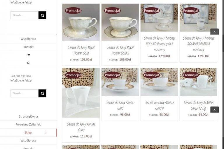 kategoria filiżanek z porcelany