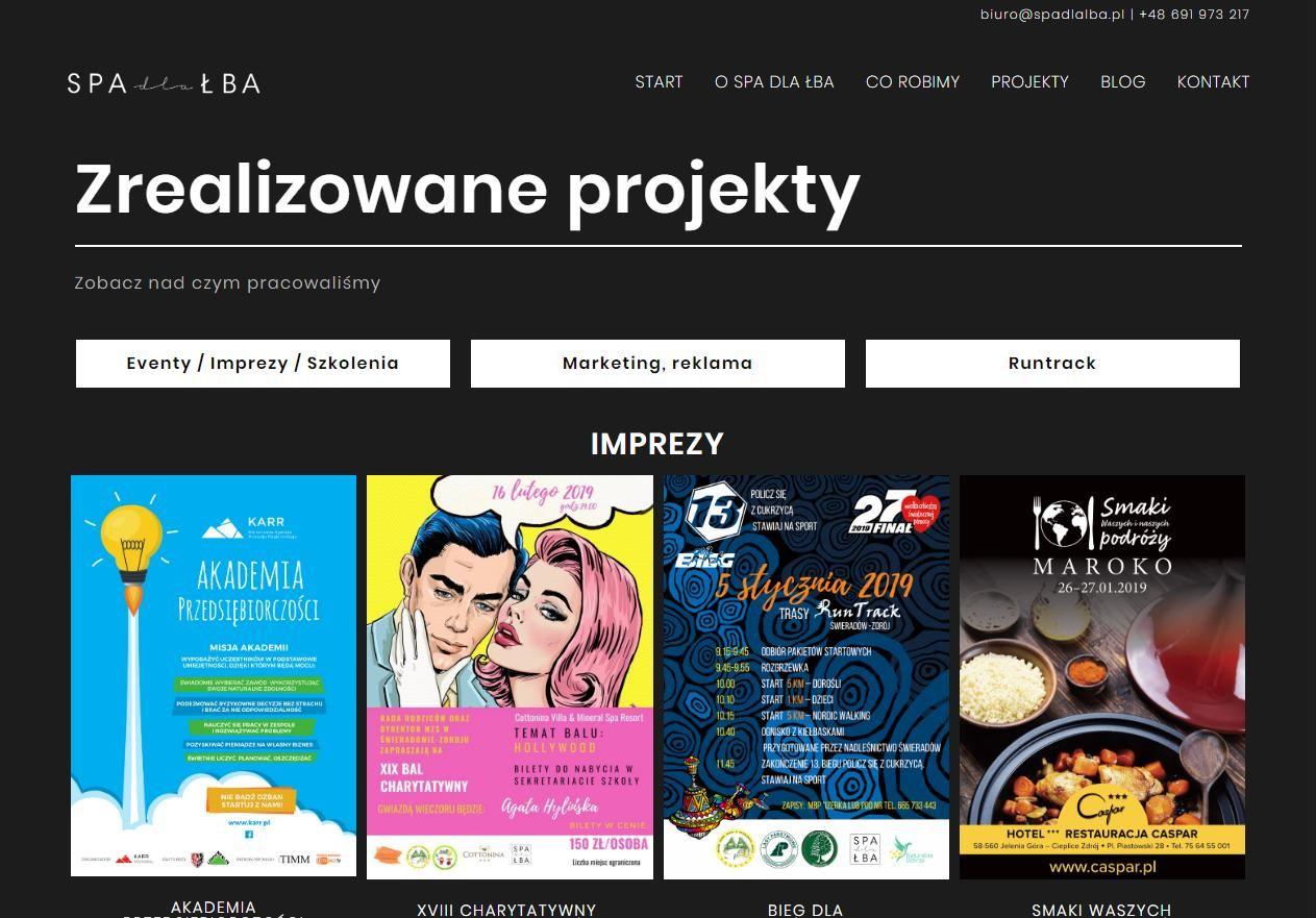 projekty agencji pr