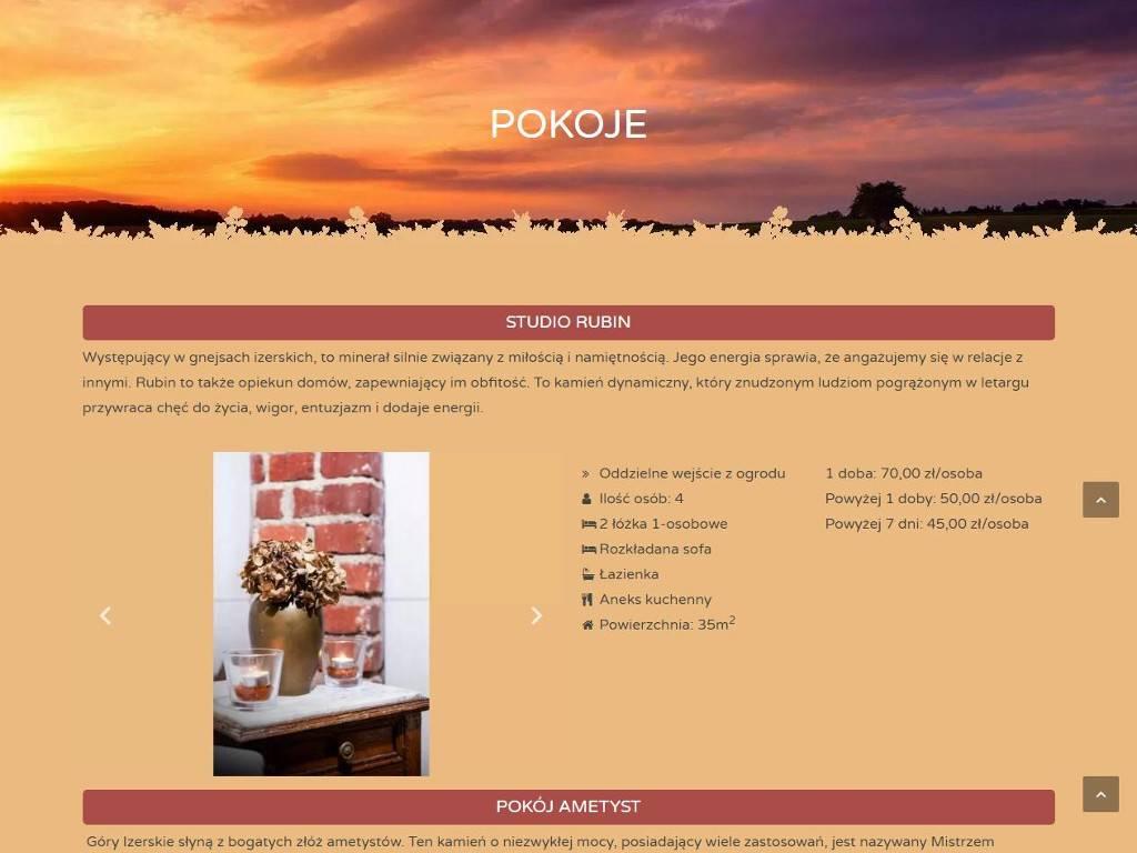 pokoje na stronie www agroturystyki