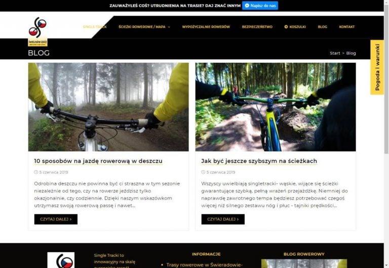 blog na stronie www