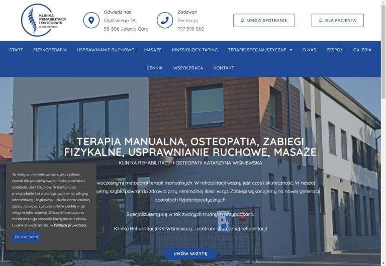 strona www dla kliniki