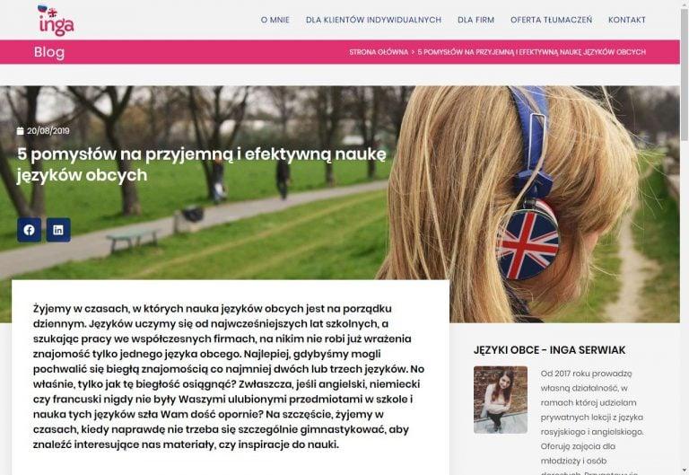 blog językowy