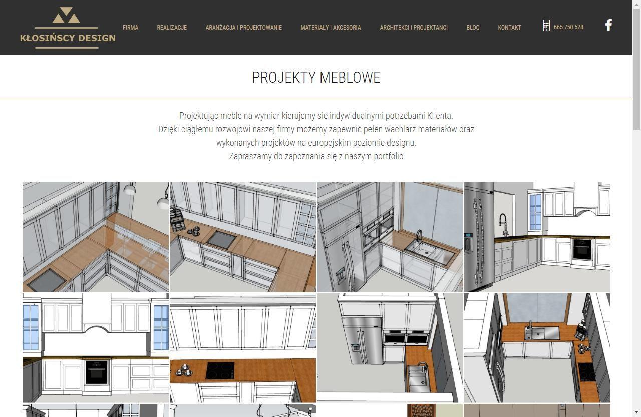 projekty wnętrz na stronie www