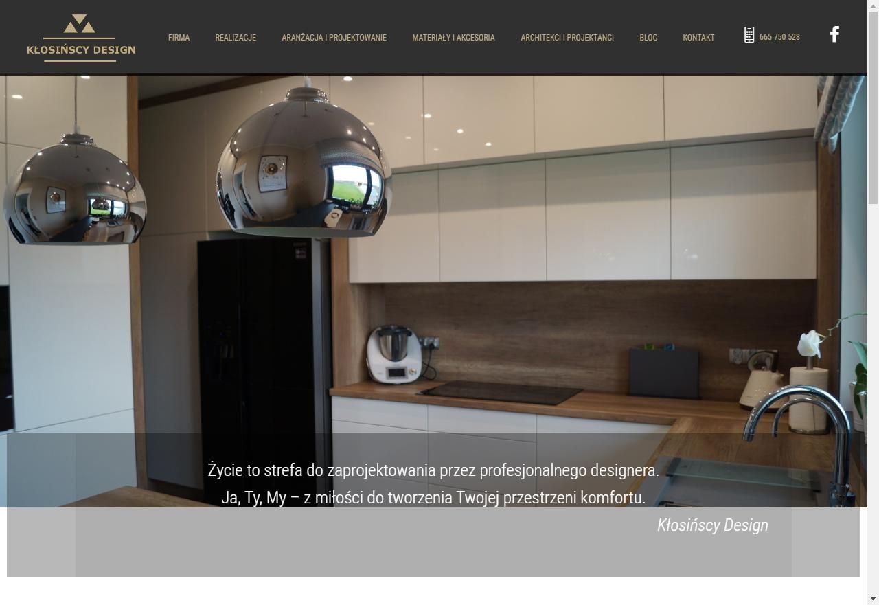 strona startowa firmy produkującej meble na wymiar