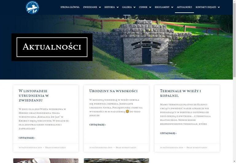 aktualności i blog na stronie turystycznej