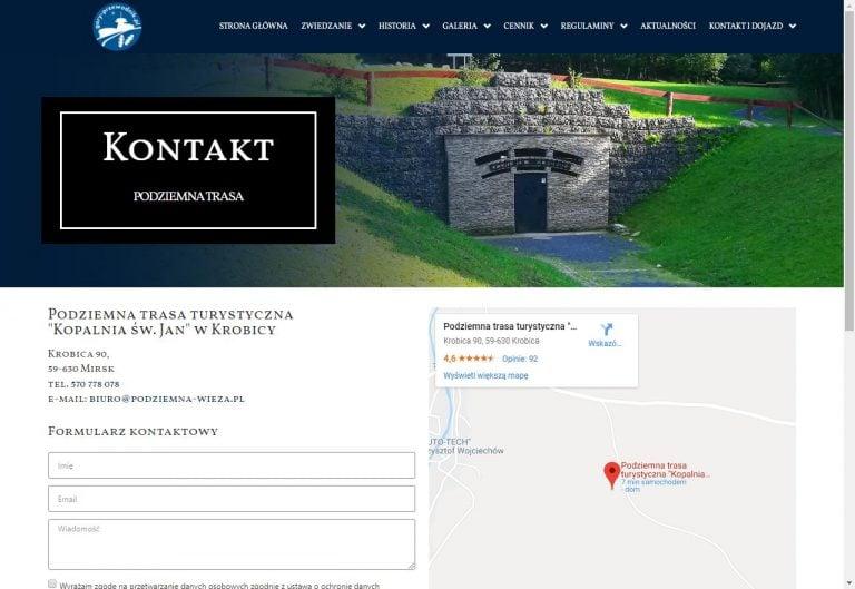 kontakt na stronie www z mapą google