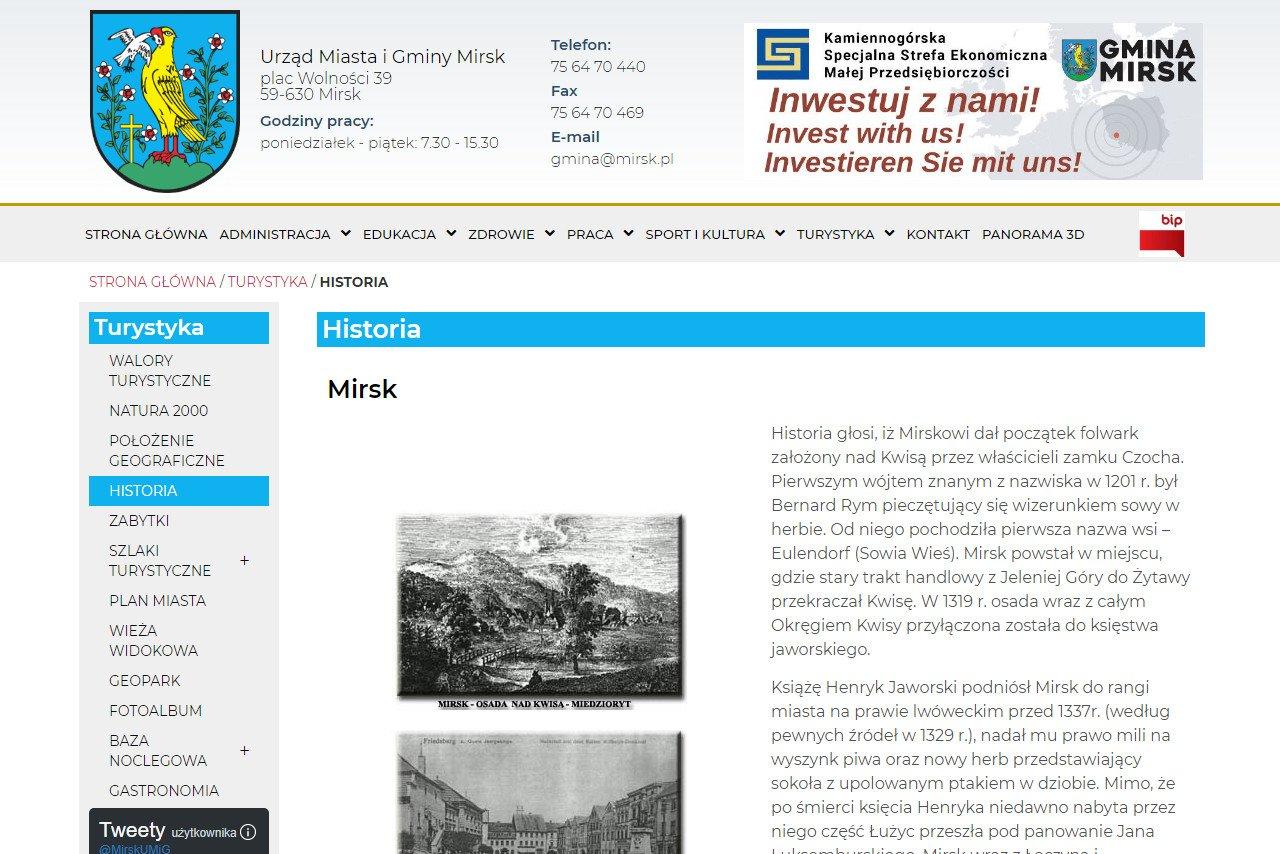 historia gminy mirsk