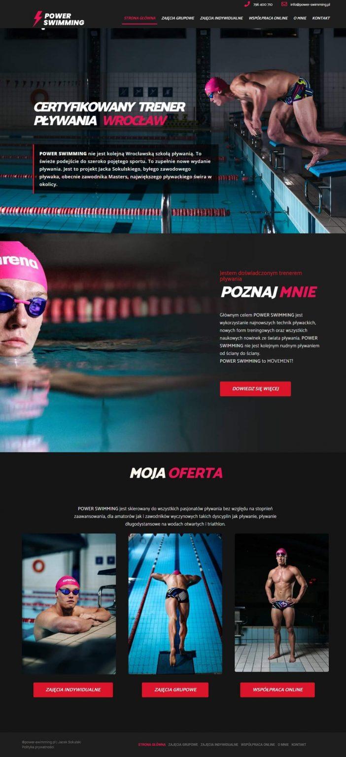 strona głowna strony dla trenera pływania