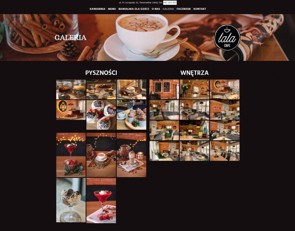 galeria kawiarni na stronie www