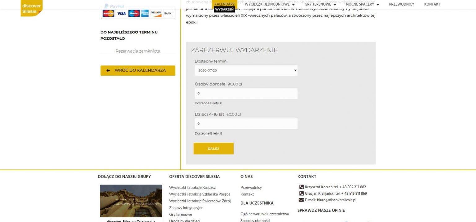 formularz rezerwacyjny online