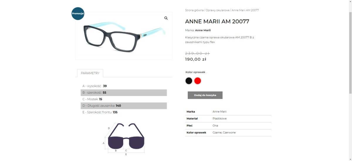 zakup okularów w sklepie internetowym
