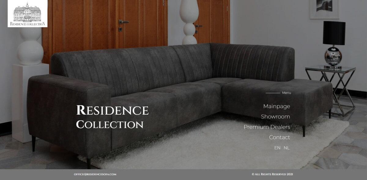 strona główna marki mebli residence sofa