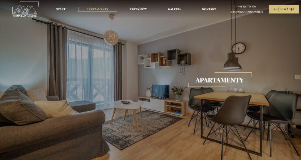 strona internetowa dla apartamentów