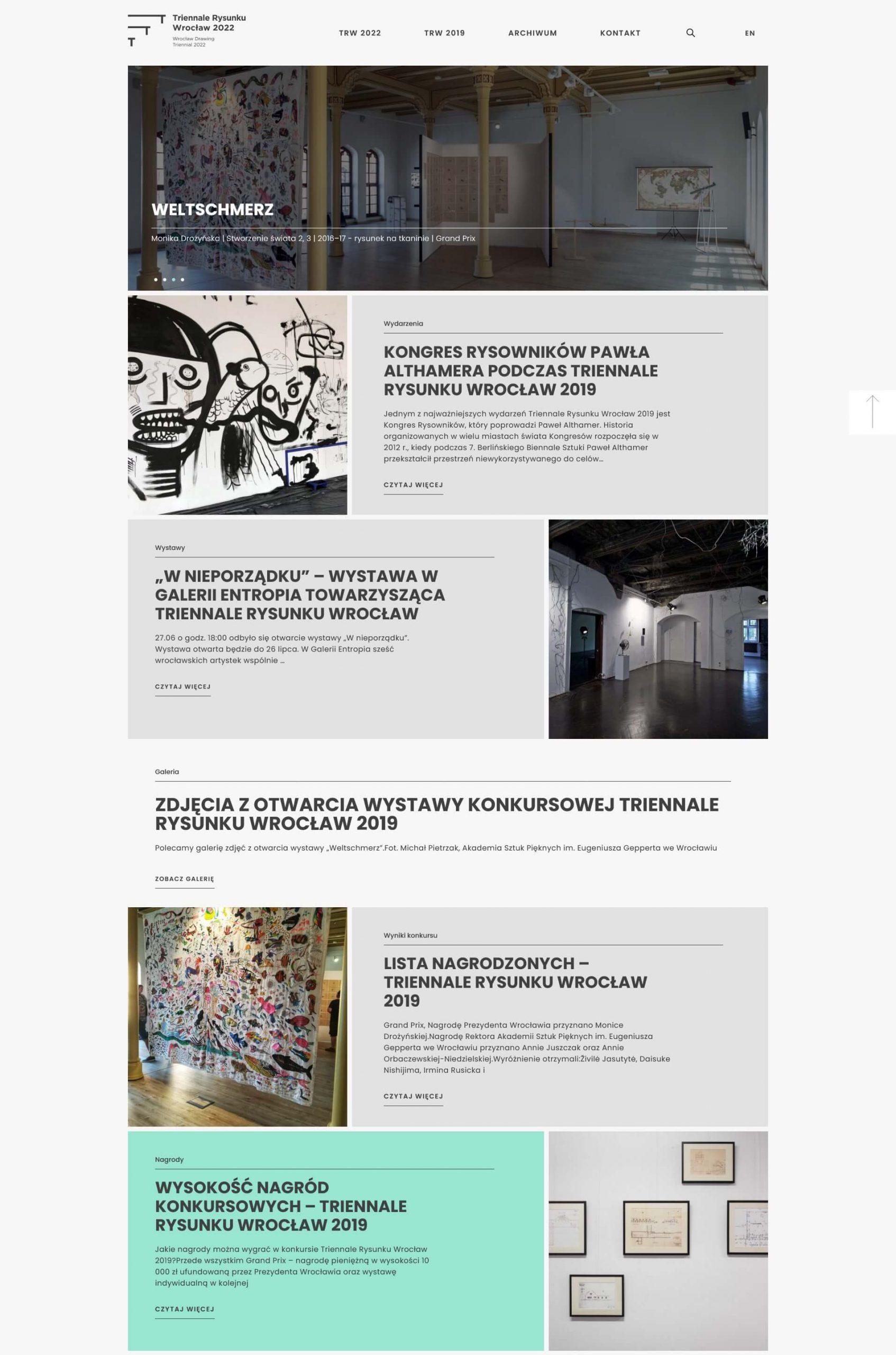 przykład minimalizmu w projekcie strony internetowej